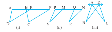 same area base and parallels
