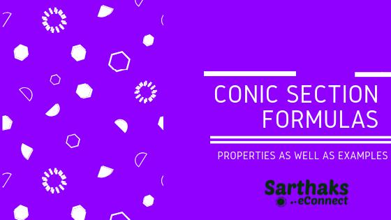 Conic section Formulas