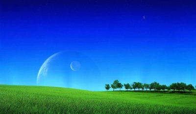 blue colour of sky