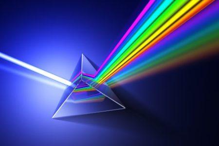 dispersion of light through a glass prism