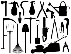 Various agricultural implements used by farmers