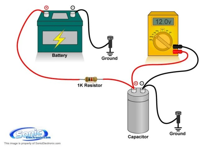 how to charge a capacitor  sonic electronix learning center
