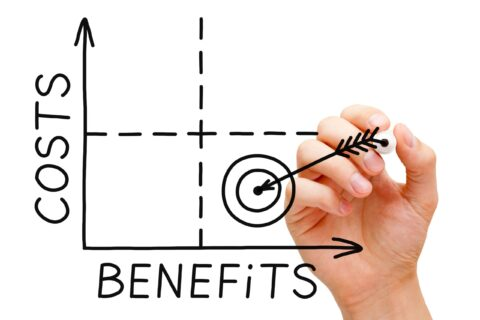 ITFM TBM costs and benefits graph hand drawn