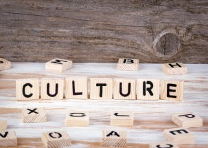 """Wooden Blocks spelling """"Culture"""" to signify that community resources build culture for the ITFM/TBM Domain"""