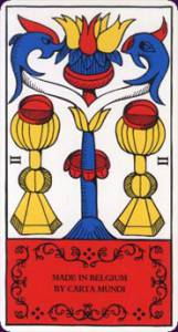 marseille tarot two of cups