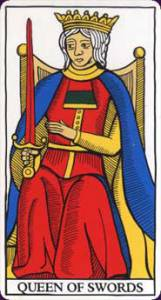 marseille tarot queen of swords