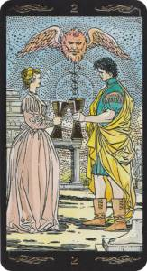 two of cups universal tarot