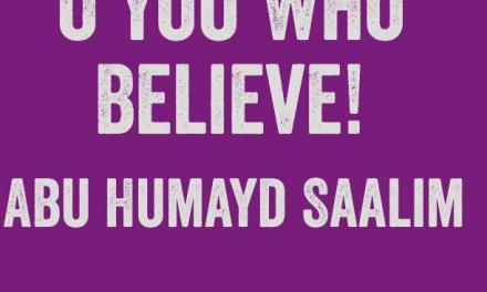 Eid Khutbah: O You Who Believe! Abu Humayd Saalim | Bolton