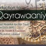 An introduction to Al Qayrawaaniyyah   Dr Abdulilah Lahmami   Salafi Centre Manchester