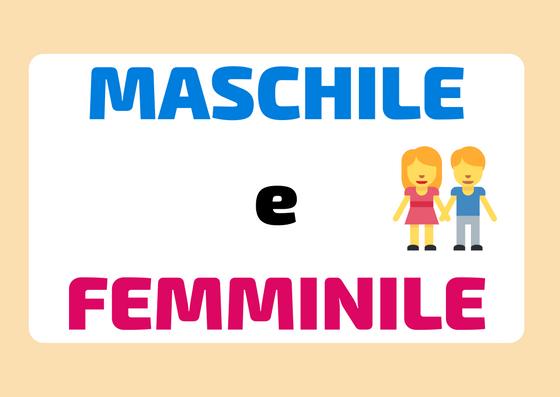 maschile e femminile in italiano