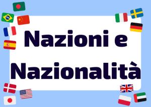 nazioni in italiano