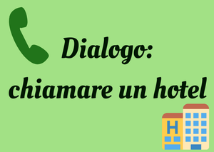 how to talk in hotel Italian
