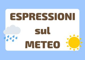 espressioni fenomeni atmosferici italiano