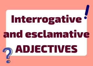 Italian interrogative and exclamative adjectives