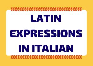 latin in Italian
