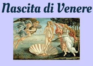 nascita di venere Italian story