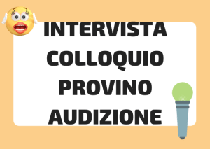intervista vs colloquio italiano
