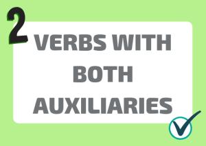 Italian verbs double auxiliary