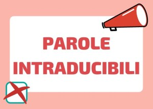 Parole intraducibili italiane