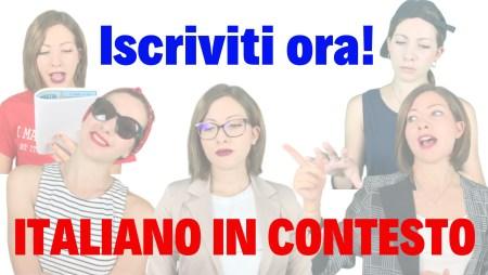 Italiano in Contesto iscrizione