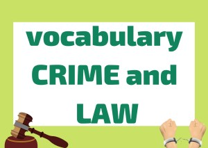 vocabulary crime and law italian