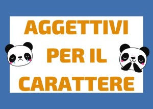 aggettivi italiani carattere