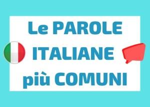 parole italiane comuni