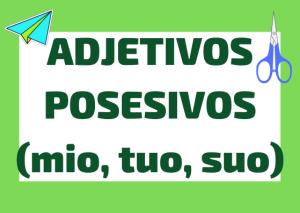 adjetivos posesivos italianos