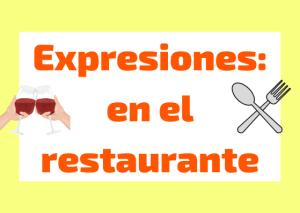 expresiones restaurante italiano