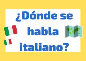 donde se habla italiano