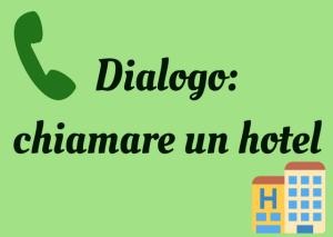 diálogo llamar hotel italiano