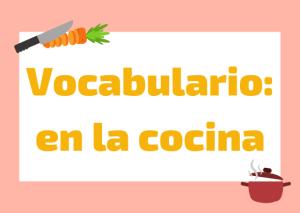 vocabulario cocina italiano