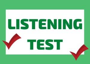 italian listening test