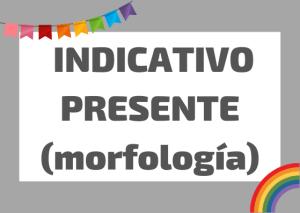 presente indicativo morfologia italiano