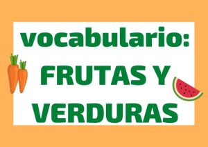 vocabulario fruta y verdura italiano