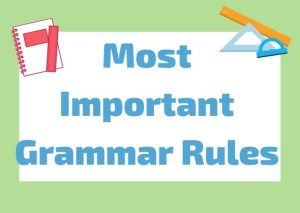 italian grammar rules