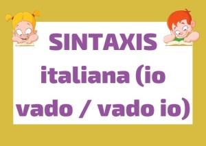 sintaxis italiana - orden palabras