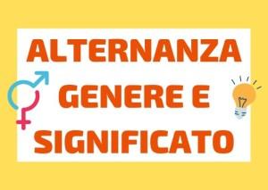 alternanza genere significato italiano