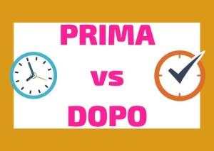 adverb prima and dopo Italian