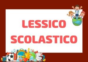 lessico scolastico italiano