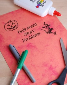write-halloween-story-problems-slide