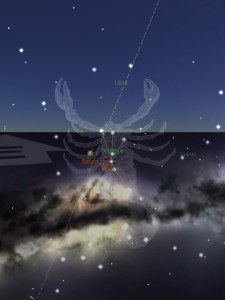 Mars Saturn Antares 24Aug2016
