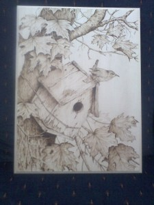 Pyrography sample