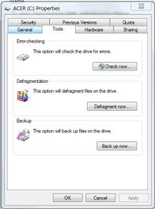 Error Checking on disk