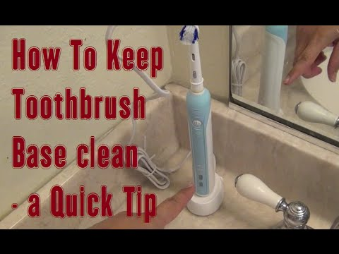 How To Keep Electric Toothbrush Base Clean – a LearnByBlogging Quick Tip