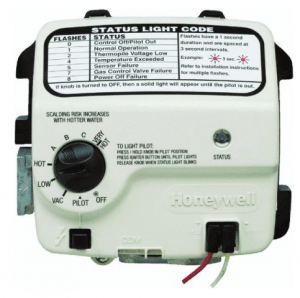 Resetting the #$%@!! * honeywell gas valve on a water heater.