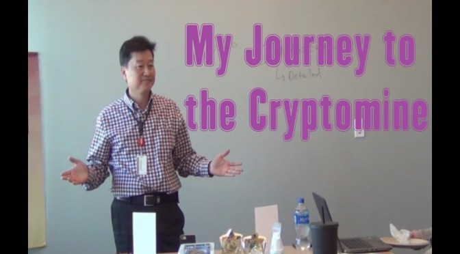My Journey to the Cryptomine – A Toastmaster Speech