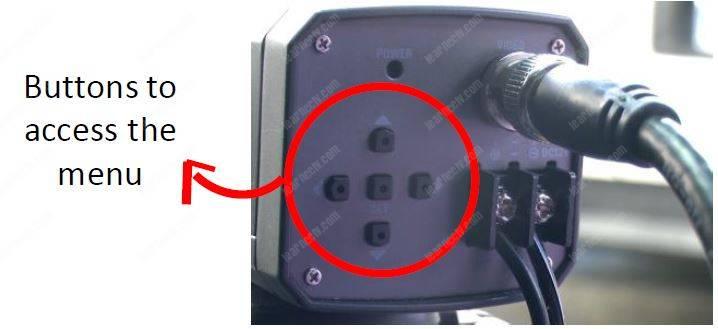 Menu camera analog