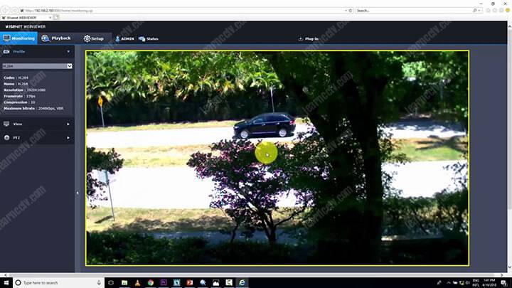 Camera an ninh IP trong trình duyệt web