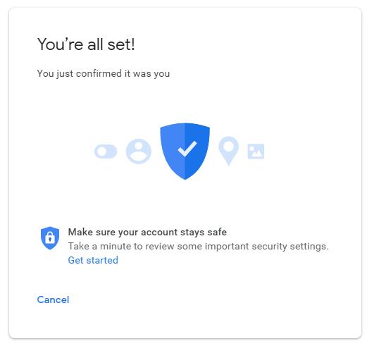 Các ứng dụng kém an toàn hơn của Google Cảnh báo Xác nhận tất cả đã đặt